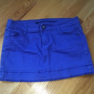 Royal blue jean skirt